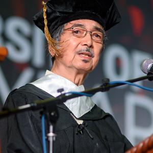 Poet, Writer, UE Professor, Alumnus Rogelio G. Mangahas, 79