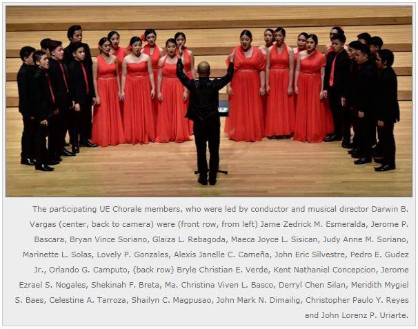 UE Chorale Wins International Choir Festival Grand Prix!