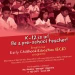 K-12 is in! Be a pre-school teacher!