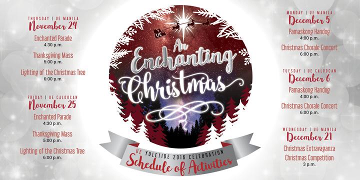 UE Christmas 2016 Calendar of Activities