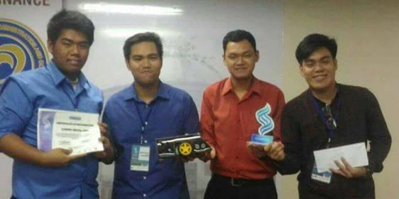 The photo here shows, from left, Arthur Dauag, Paul John Ronald Manapat, Michael Sta Maria and Erldrine Mangawang.