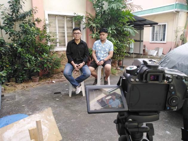 Orbital Exploration (OrbitX) founders Dexter P. Baño Jr. (left) and Joshua Naungayan...