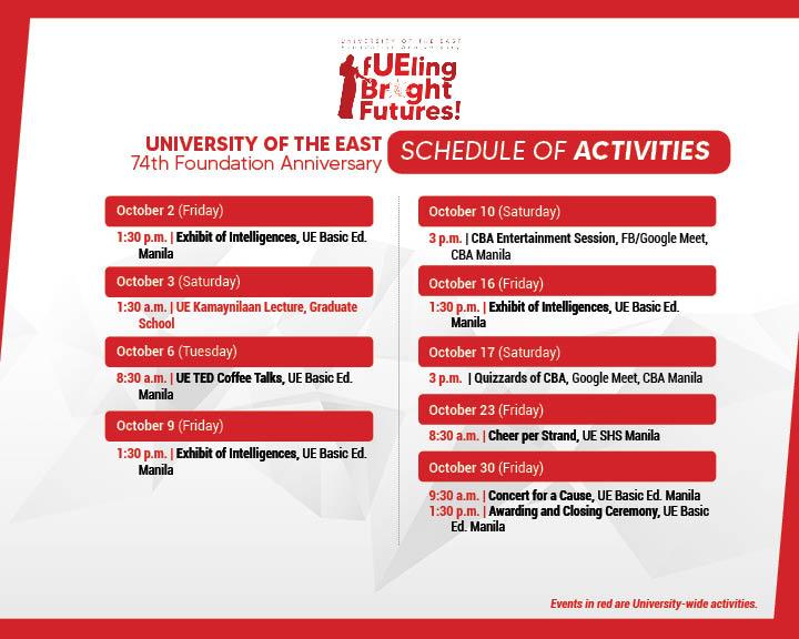 74TH Anniv Schedule of Activities-FB11