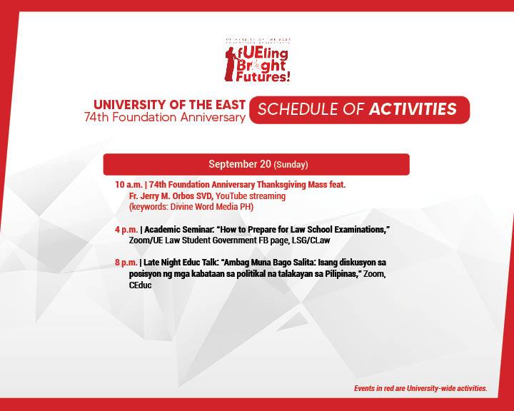 74TH Anniv Schedule of Activities-FB3