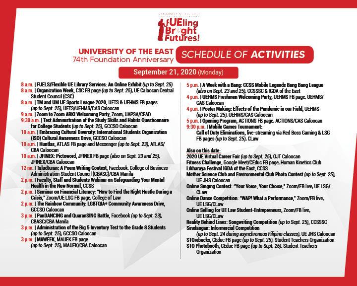 74TH Anniv Schedule of Activities-FB4