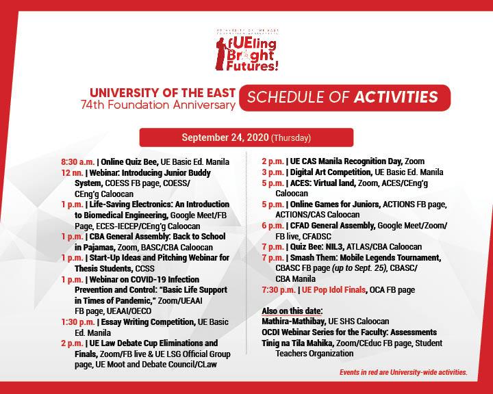 74TH Anniv Schedule of Activities-FB7
